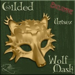 AZE Gilded Wolf Mask Poster 512