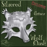 AZE Silvered Wolf Mask Poster 512